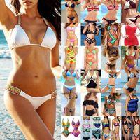 5 مجموعات أحدث بيكيني مجموعة 2-قطعة ملابس السباحة ل wome المايوه بحر مثير سيدة المايوه مبطن البرازيلي بيكيني مزيج الألوان العديد من النمط