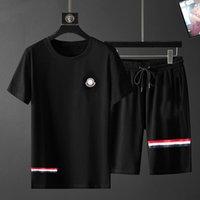 Casual Mens Tracksuit Roupas Homens Set Fitness Esportes Terno Homem 2021 Brand Curto T-Shirt Sportswear Dois Peça M-3XL TL # 04