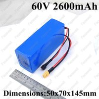 Brand 60v 2.6Ah battery 18650 batterycell BMS xt60 tplug for pack electric skateboard 60v electric scooter