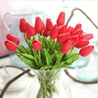 Decorative Flowers & Wreaths Artificial Plants Tulip Outdoor Grass Garden Flower Decoration