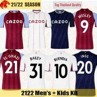 21 22 Aston Villa Maillot de foot BUENDIA CASH 2021 2022 BAILEY WATKINS WESLEY Maillot de football TREZEGUET EL GHAZI McGINN MINGS INGS Maillot homme Kit enfant