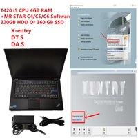 Laptop Diagnóstico PC 4G CPU T420 Computador com MB Estrela C4 / C5 / C6 2021.09 HDD / SSD Car Ferramentas