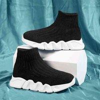 High Top Children Shoes Boys School Girls Kids Socks Black Designer Boy Sport Running Sneakers Trainers Tenis 210916