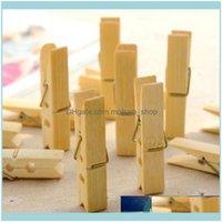 Cabides Rack Racks Arrumação Organização Garden20pcs / Conjunto de Alta Qualidade Bambu Wood Wood Roupas Pegs Meias Camas de Cama Toalha à prova de vento PI