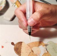 다른 크기 재충전 펜 컬러 연필 잉크 펜 잉크 소프트 수채화 브러시 페인트 브러시 그림 아트 공급 222 v2