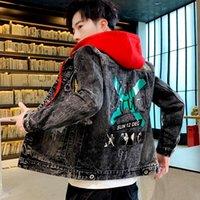 Men's Jackets Man's And Coats Winter Brand Hooded Vintage Distressed Demin Jacket Tops Coat Outwear Jean Men Denim
