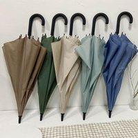 Umbrellas 8 Bone Literary Double Umbrella Long Handle Straight Fashion Women Parasol Rain And Sun Dual-purpose Male