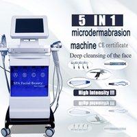 2021 Hydro Facial Agua Microdermabrasión Piel Limpieza profunda Máquinas hidráulicas Oxígeno Mesoterapia Pistola RF Levantamiento de la piel Rejuvenecimiento