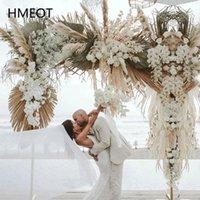 Decorative Flowers & Wreaths Natural Dried Flower Arrangement Pampas Grass Reed Row DIY Wedding Props Backdrop Decor Arch Wall Customizable