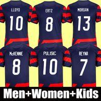 2021 USA Fußballtrikot 2022 America Amerika PULISIC DEST McKennie REYNA ADAMS WEAH Musah ERTZ BRADLEY PUGH LLOYD ALTIDORE 21 22 Herren Kindertrikot