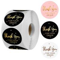 Grazie per il vostro ordine adesivi da 2,5 cm / 1 pollice Lettera Confezione regalo Confezione del cliente Mailer e sacchetto di vendita al dettaglio Autoadesivo Etichetta cancelleria