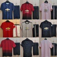 Manchester Retro Adult Kits 18 19 20 Homem Casa Away Terceiro Futebol Jerseys Greenwood Rashford Pogba B.Fernandes Lingard Martial United Camisa de futebol Utd Kit Shorts