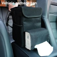 Car Organizer 40% Trash Can Collapsible Wear Resistant Oxford Cloth Garbage Storage Pocket With Tissue Box For