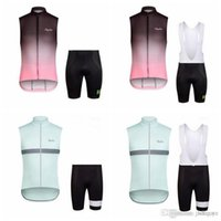 Rapha Team Cycling sin mangas Jersey Chaleco (babero) Shorts Sets Bike Wear Ropa MTB Uniform Bicycle Maillot Culotte E3112