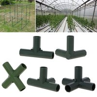 Watering Equipments Plastic 16mm 0.63in Hose Connector Flat Right Angle 3 4 5 Ways Joint Rack Assemble Adapter Tube Parts Home Gardening Too