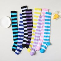 Stocking Socks Over Knee For fashion Girls Woman Cosplay Stripe Long Tube Stock Costume Halloween Party Cheerleading Thigh High sock