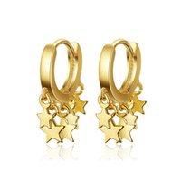 2021 мода простые золотые серебряные цветные звезды серьги для женщин круглые личности обруча сеанса ювелирные изделия Корейский оркини аретес 364 q2