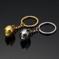Keychains 2 Color Design Diy Handmade Keyring Animal Keychain Pig Chain 3D Jewelry Car Accessory Backbag Handbag Pendant Metal 31g