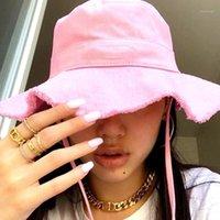 Kadın Yaz Le Bob Artichaut Kova Şapka Geniş Ağız Şapka1