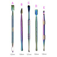 High Quality Rainbow Color Dab Tool Stainless Steel Tools for Dry Herb Vaporizer water Pipe Digging Smoking Vape Wax Oil Dabber