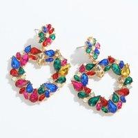 Dangle & Chandelier Miwens Luxury Multicolor Crystal Heart Earrings For Women Bridal Sparkly Rhinestone Love Shape Pendant Statement