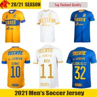20 21 Tigres UANL Camisetas de fútbol AQUINO NICO GIGNAC Camiseta de fútbol PIZARRO C.GONZALEZ QUINONES Camiseta para hombre Kit para niños