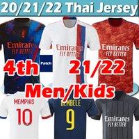 21/22 Maillot Lyon 4th 2021 2022 أولمبيك Lyonnais Soccer Jersey OL Digital Fourtth Shirts Traore Memphis Men Kids Kits Equipment Bruno G قميص كرة القدم