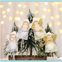 Праздничная вечеринка поставляет Gardencute Angel Coll Decoration Кулон Kawaii Рождественская елка висит украшение украшения для дома Navidad Drop D