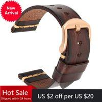 Bracelet de montre en cuir authentique Maikes pour la sangle de galaxie 18mm 20mm 22mm de montre Tissote Timex oméga bracelets d'oméga
