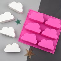 Baking Moulds 6 Even Cloud Shape Silicone Molds Chocolate Candy Gummy Gelatin Jello Jelly Ice Mold Mousse Cake Soap Bath Bomb Mould Bakeware Kitchen Tools