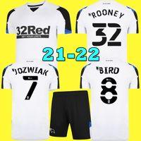21 22 Дерби графства футбол для футболки 2021 2022 Главная Белая Мудрость Мудрость Мудрости Мудрость Рубашка У Хамера Руни Футбольная форма