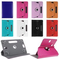 360 Degree Rotating PU Leather Case Stand Fold Flip Covers Built-in Card Buckle Universal Cases for Tablet PC 7 8 9 10 Inch