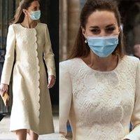 Kate dress creme cor comprimento de chá mãe dos vestidos de noiva com jóia jóias pescoço de manga longa apliques formais vestido de noite formal