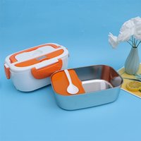 Dinnerware Sets Multifunction Electric Heated Lunch Box Portable Warmer Heating Container For Home School Office With EU Plug (220V)