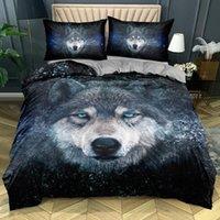 Bedding Sets 3D Custom-make Animals Comforter Case Wolves Design King Queen Full Size Home Textile