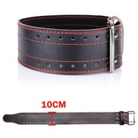 Weightlifting Belt Cowhide Leather Gym Fitness Crossifit Bac...