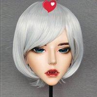 Máscaras de fiesta (demonio-2) resina media cabeza kigurumi bjd máscara cosplay japonés anime rol demonio crossdress muñeca