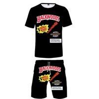 Komik Gıdalar Backwoods Bal Berry İki Adet Setleri Erkekler 3D T Shirt + Şort Takım Elbise Erkekler Yaz Tops Tees Moda Tshirt Erkek Giyim X0503