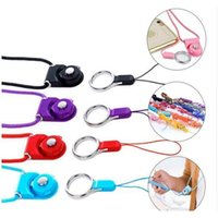 Detachable Neck Strap Rotatable Lanyard Colorful Hanging Rope With Sling Finger Ring For Cell Phone Id Card