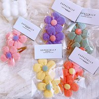 Hair Accessories Baby Girl Accessoires Flowers Pins And Clips Candy Colors Hairpins Snap Metal Sweet BB Gift