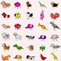 Walking Pet Animal Helium Aluminum Foil Balloon Automatic Sealing Kids Baloon Toys Gift For Christmas Wedding Birthday Party DHE9757