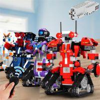 TIKTOK High-Tech Toys App Control Robot Stivali Compatibili Creative Toolbox Set Programmazione Aimubot Bambini Giocattoli Building Blocks FY4537-FY4540