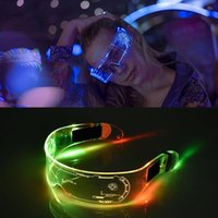 LED Glasses Wire Neon Party Luminous LED Glasses Light Up Glasses Rave Costume Party Decor SunGlasses Halloween Decoration 200929