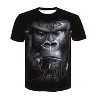 T Shirt Gorilla Digital Stampa 3D Tees Polos Divertente e traspirante estate uomo girocollo manica corta manica corta