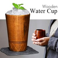 PC Natural Jujube tazza di legno tazza di legno giapponese tazza da tè in legno colazione bei birra caffè succo di latte verde tè drinkware tazze piattini