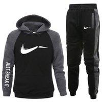 Fashion Brand Men's Black Set Fleece Felpa con cappuccio Pant Spessa Calda Tuta Calda Abbigliamento Abbigliamento con cappuccio Cappellini Abiti Maschile Swotsuit Plus Size S-3XL