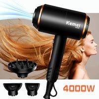 Kemei KM-8896 Sèche-cheveux Professionnel Puissant Sèche-claire Chaud et froid Puissance forte 4000w Négatif Sèche-cheveux Séchoirs EU