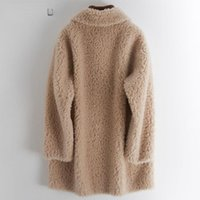 Women's Fur & Faux 2021 Spring Woman Real Wool Coat Jacket Female High Quality Thicken Warm Coats Ladies Winter Fashion Outerwear Q20