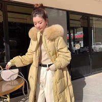 Frauenwesten [Einkaufszentrum abseits Saison Daunenjacke Sekunden 229 Yuan] 90 Tuch Weiße Ente mit Naturwolle Mid-Lengt