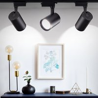 1pcs LED Spot Light 220V LED Spotlight COB 15W 20W 30W 40W 40W Eclairage de piste d'intérieur Spots de plafonnage Lampes de lumières Lumières Galerie Shop